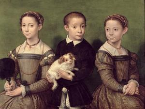 Two Sisters and a Brother of the Artist by Sofonisba Anguissola