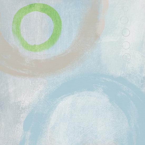 Soft Coastal Circles III-Linda Woods-Art Print