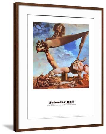 Soft Construction with Boiled Beans-Salvador Dalí-Framed Art Print