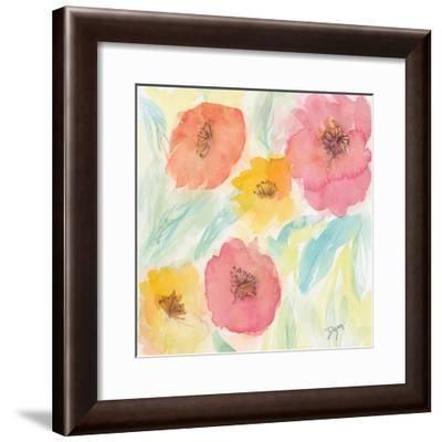 Soft Floral I-Beverly Dyer-Framed Art Print