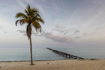Soft Light Illuminates an Old Pier, Cuba-James White-Photographic Print