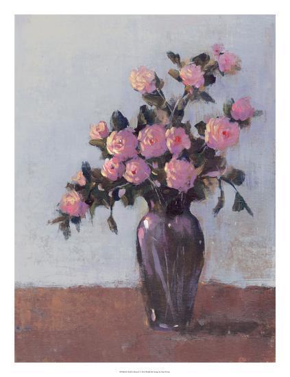 Soft Lit Roses I-Tim O'toole-Art Print