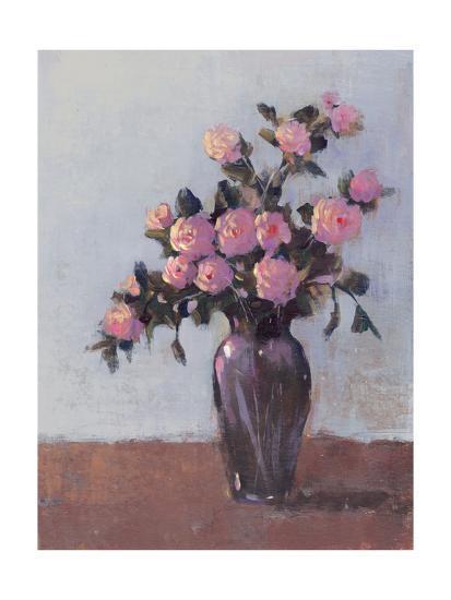 Soft Lit Roses I-Tim OToole-Art Print