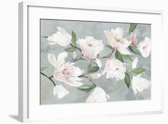 Soft Pink Magnolias-Asia Jensen-Framed Art Print