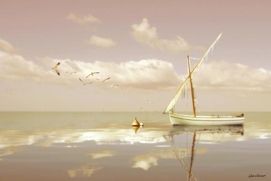 Soft Sunrise on the Beach 12-Carlos Casamayor-Giclee Print