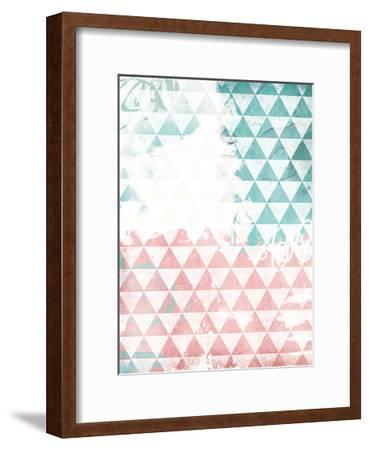 Soft Triangles-Jace Grey-Framed Art Print