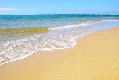 Soft Wave of the Sea on the Sandy Beach-idizimage-Photographic Print