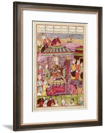 Sohrab Facing the Tent of the Persian Army Leaders--Framed Art Print