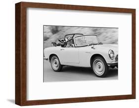 Soichiro Honda Driving Honda Convertible, Tokyo, Japan, 1967-Takeyoshi Tanuma-Framed Photographic Print