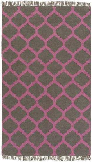 Soiree Area Rug  - Carnation/Charcoal 5' x 8'--Home Accessories