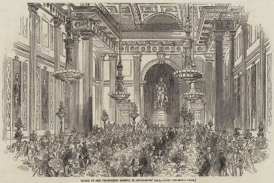Soiree of the Vegetarian Society, in Freemasons' Hall--Giclee Print