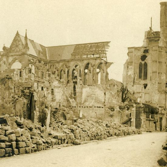 Soissons Cathedral, Soissons, northern France, c1914-c1918-Unknown-Photographic Print