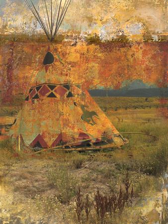 Indian Teepee Family Painting Deco Print Art on Canvas Gerald Harvey Jones 16x20