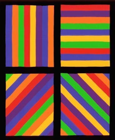 Color Bands in Four Directions, c.1999