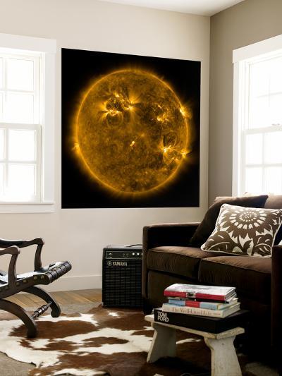 Solar Activity on the Sun-Stocktrek Images-Wall Mural