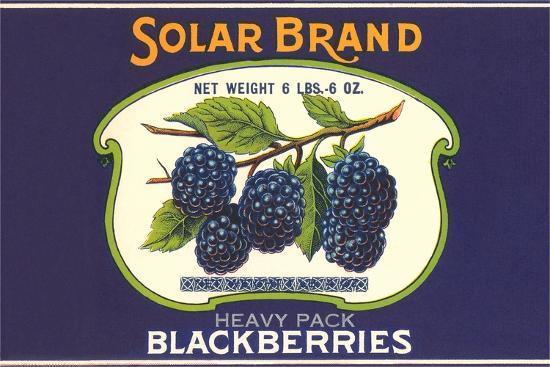Solar Blackberry Label--Art Print
