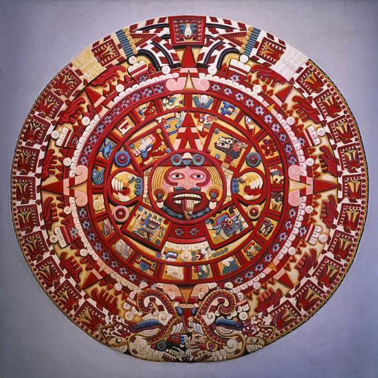 Solar Calendar, Aztec, Mexica Culture (Reconstruction) Photographic Print  by | Art com