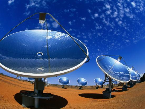 Solar Dishes, White Cliffs, New South Wales, Australia-Christopher Groenhout-Photographic Print