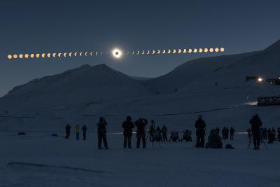 Solar Eclipse Sequence in Svalbard on March 20, 2015-THANAKRIT SANTIKUNAPORN-Photographic Print