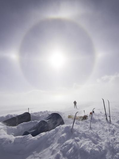 Solar Halo (Due to Blowing Snow and Ice Crystals) Above Southern Patagonian Icecap-Grant Dixon-Photographic Print
