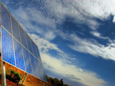 Solar Panel in the Desert of South Australia-Brooke Whatnall-Photographic Print