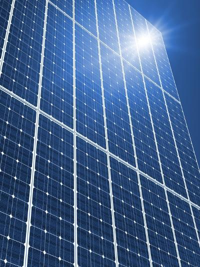 Solar Panels In the Sun-Detlev Van Ravenswaay-Photographic Print