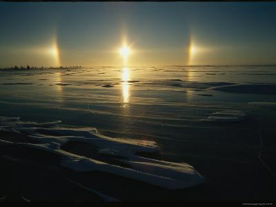 Solar Phenomena in the Sky is Reflected on Ice-Covered Hudson Bay-Norbert Rosing-Photographic Print