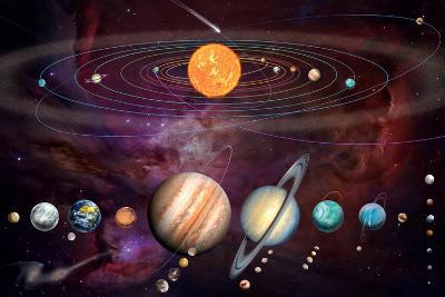 Solar System 1 (Variant 1)-Garry Walton-Art Print