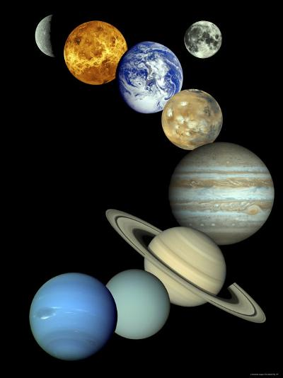 Solar System Montage-Stocktrek Images-Photographic Print