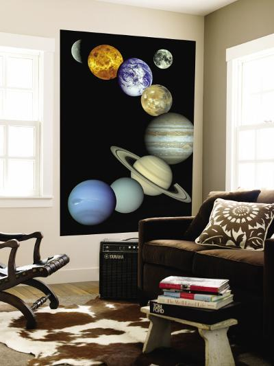 Solar System Montage--Wall Mural