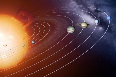 Solar System Orbits, Artwork-Detlev Van Ravenswaay-Photographic Print