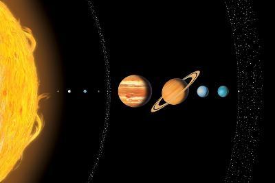 Solar System Planets, Artwork-Gary Gastrolab-Photographic Print