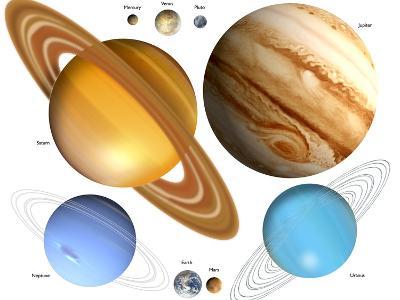 Solar System Planets-Victor Habbick-Photographic Print