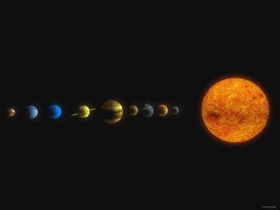 Solar System-Stocktrek Images-Photographic Print
