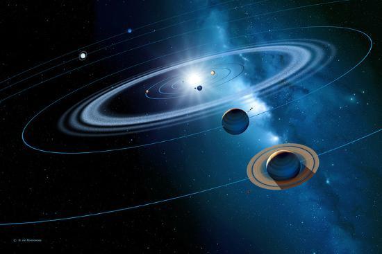 Solar System-Detlev Van Ravenswaay-Photographic Print