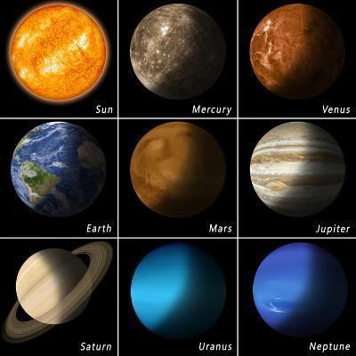 Solar System-alex_aldo-Art Print