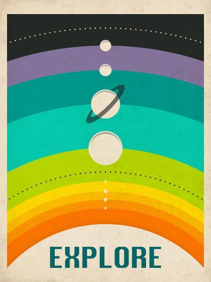 Solar System-Jazzberry Blue-Premium Giclee Print
