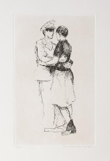 Soldier and Girl II-Raphael Soyer-Limited Edition