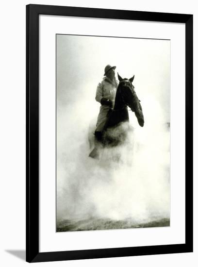 Soldier and Horse Wearing a Gas Mask During the Battle of Verdun, 1916--Framed Photo