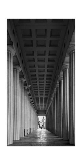 Soldier Field Colonnade Chicago BW-Steve Gadomski-Photographic Print