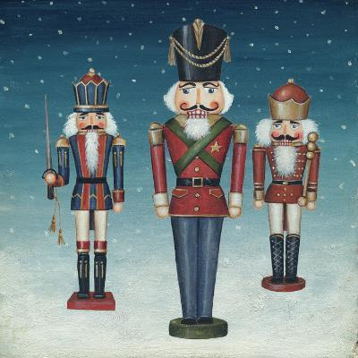 Soldier Nutcrackers Snow-David Cater Brown-Art Print