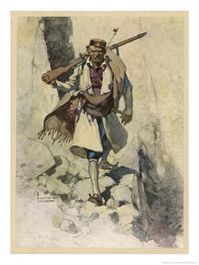 Soldier of Montenegro (Balkans) Fighting the Austrians During World War One-Hoffmann Von Vestenhof-Giclee Print
