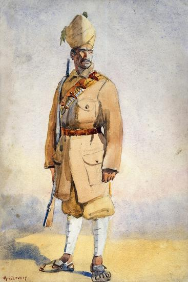 Soldier of the Khyber Rifles, Illustration for 'Armies of India' by Major G.F. MacMunn, Published…-Alfred Crowdy Lovett-Giclee Print