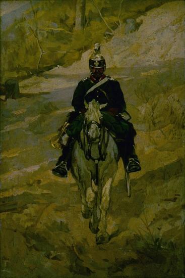 Soldier on Horseback-Giovanni Fattori-Art Print