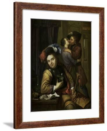 Soldier Scene-Carel de Moor II-Framed Art Print