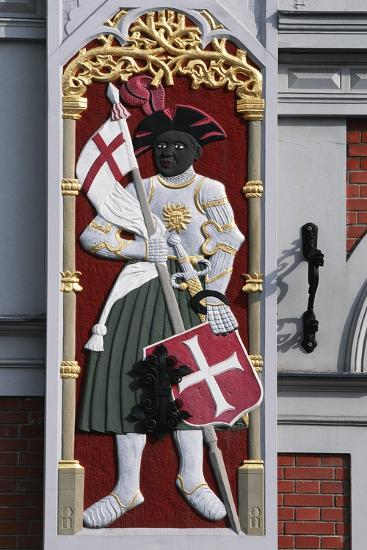 Soldier with Shield and Banner, Decoration from the House of the Blackheads--Giclee Print