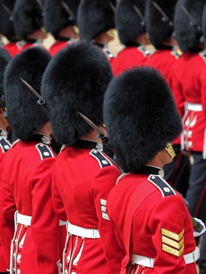 Soldiers at Trooping Colour 2012, Queen's Official Birthday Parade, Horse Guards, London, England-Hans Peter Merten-Photographic Print
