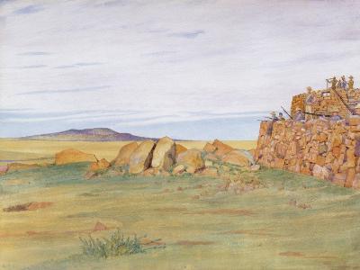 Soldiers Defending Rhenoster Kop in the Boer War-George, 9th Earl of Carlisle Howard-Giclee Print
