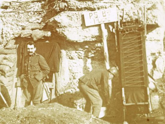 Soldiers in front line trenches, c1914-c1918-Unknown-Photographic Print