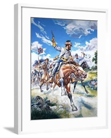 Soldiers in the American Civil War--Framed Giclee Print
